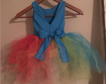 Rainbow Dash Party Dress