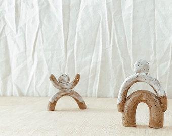 Ceramic Art Figure Totem Folk