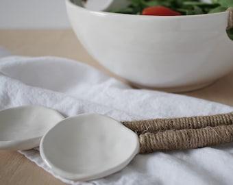 Long Ceramic Spoons