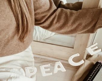 PEACE porcelain Garland