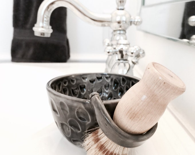 Shaving Mug Set Includes Soap And Natural Brush Shaving Gift MADE TO ORDER