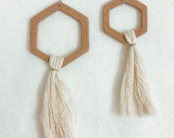 Modern Geometric Tassel Ornament