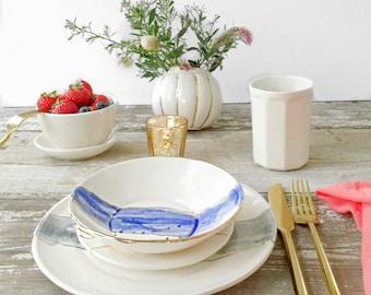 Linen Watercolor Dinnerware Plates