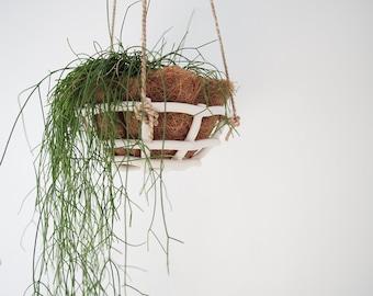 Woven Ceramic Hanging Basket