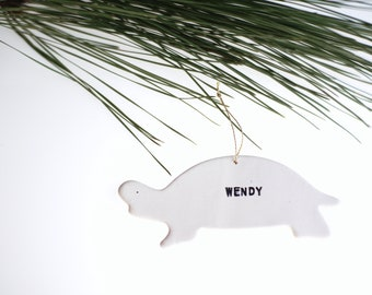 Turtle Personalized Ornament