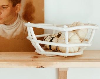 Woven Ceramic Basket Bowls