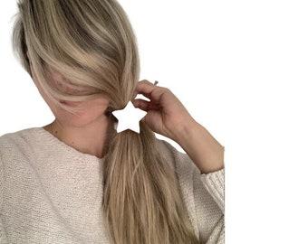 Ceramic Star Hair Tie Elastic Scrunchie