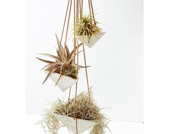 Hanging Pyramid Planter Modern Mid Century Home Decor MADE TO ORDER #hangingtriangleplanters