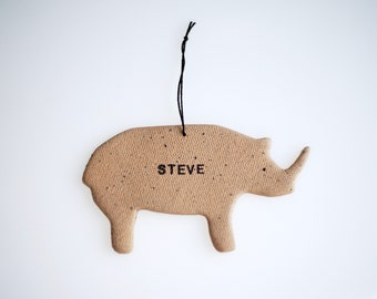 Rhino Personalized Ornament