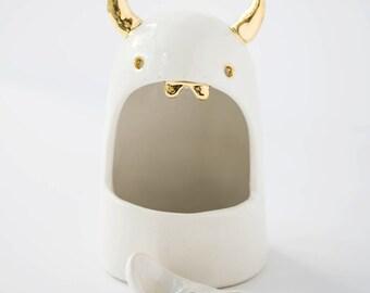 Lil Devil Salt Monster Ceramic Salt Cellar Sculpture #FREESHIPPING