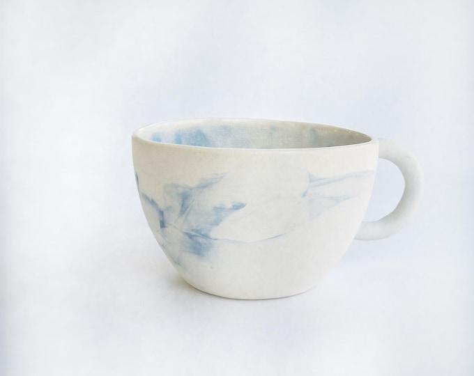 Blue Marble Mug Modern Minimal #mug #marblemug
