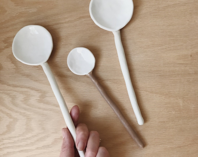 Long Ceramic Spoon