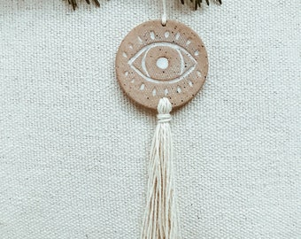 Evil Eye Boho Tassel Ornament