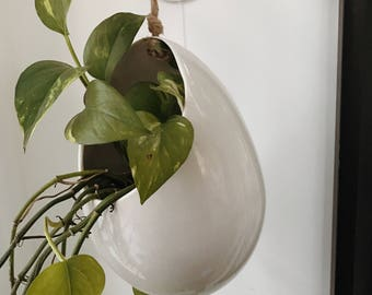 Hanging Pod Planter Stoneware MADE TO ORDER #hangingplanter