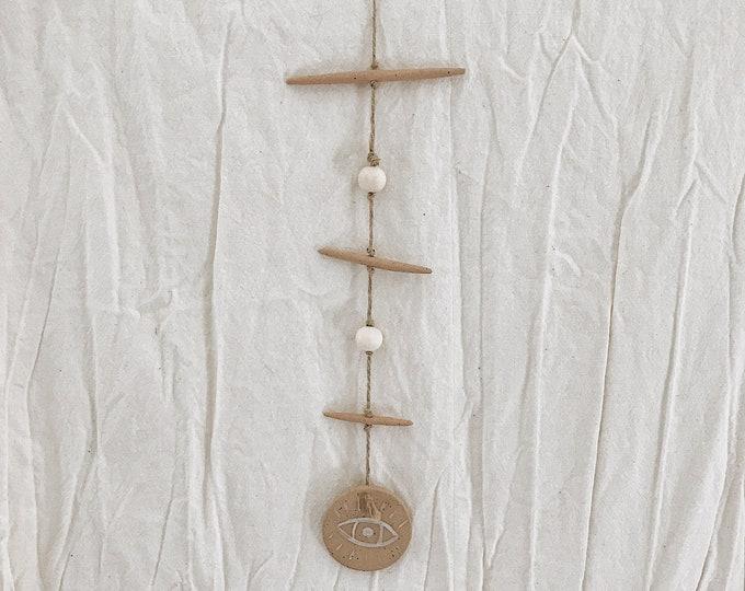 Evil Eye Wall Hanging Stoneware MADE TO ORDER