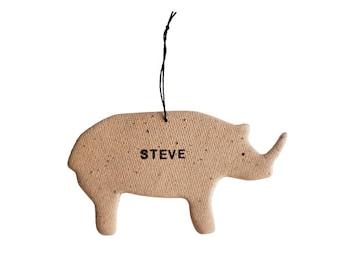 Rhino Personalized Ornament
