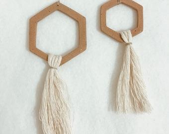 Modern Geometric Tassel Ornament
