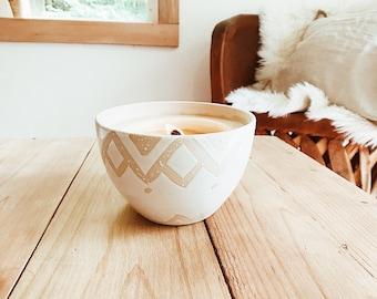 Baked Cookie Soy Candle  Reusable Ceramic Planter Stoneware Natural #naturalsoycandle #reusablecandleplanter #potterysoycandle