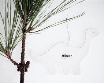 Dinosaur Personalized Tree Ornament
