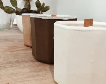 Soy Candle in Reusable Ceramic Planter