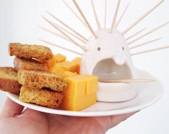 Toothpick Monster Clay Pick Monster Sculpture Ceramic Foodie Fun Unique Kitchen Ware Original Design