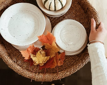 The Pines Rustic Speckled Dinnerware