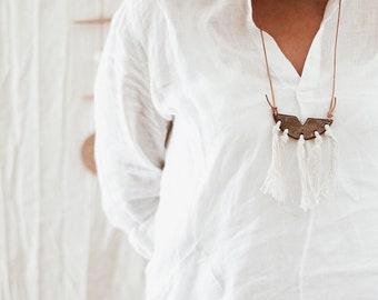 Earthy Tasselled Necklace