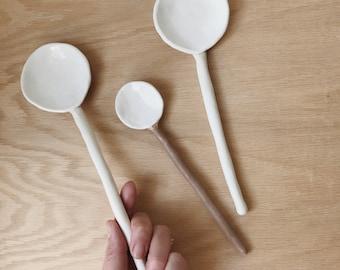 Long Ceramic Spoon
