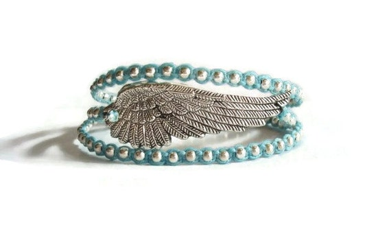 Wing Bracelet Angel Wing Bracelet Stack Bracelet Wrap Bracelet