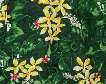 1960s Hawaiian Shirt / S - M / Floral / Rayon / 1960s Mens Fashion / Novelty / Tiki / 60s Hawaiian Shirt / Rayon Hawaiian Shirt / Luau