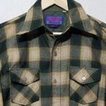 NOS Vintage 1970s Plaid Wool Shirt - M - Pendleton Style - Lumberjack Shirt - Flannel Shirt - 1970s Mens Fashion - Work Shirt - Hunting