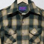NOS Vintage 1970s Plaid Wool Shirt - M - Pendleton Style - Lumberjack Shirt - Flannel Shirt - 1970s Mens Fashion - Work Shirt - Hunting