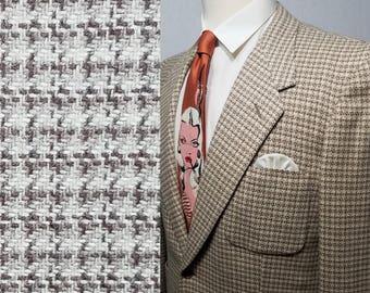 Vintage 1950s Mens Sport Coat / 41 - 42 / Tweed / Bold Look / Rockabilly / 1950s Mens Fashion / 1950s Jacket / 1950s Suit Coat / 50s
