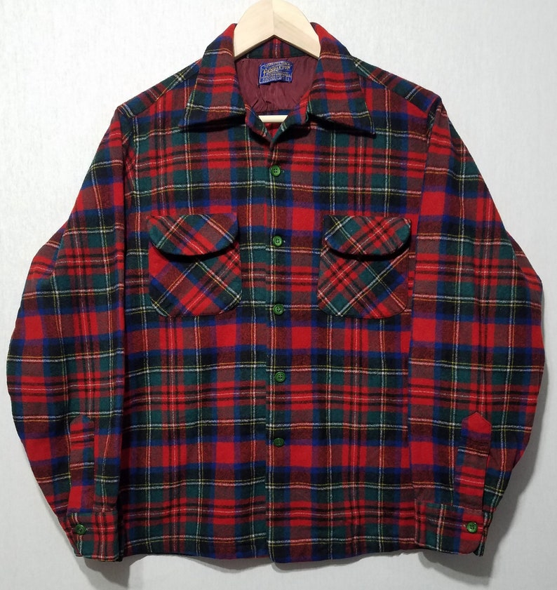 Vintage 1950s Pendleton Board Shirt  S  M  Pendleton Shirt image 0