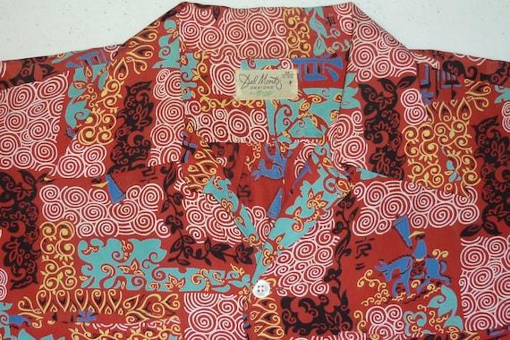 1940s Hawaiian Shirt / M / Asian / Atomic / 1950s