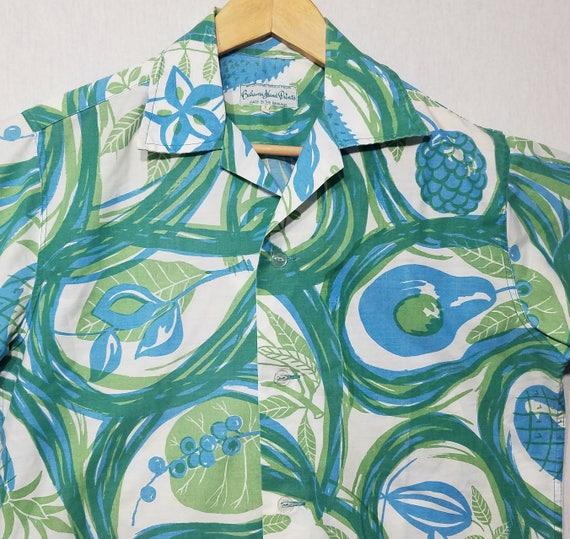 1960s Shirt / S / Tropical Fruit / 1960s Hawaiian