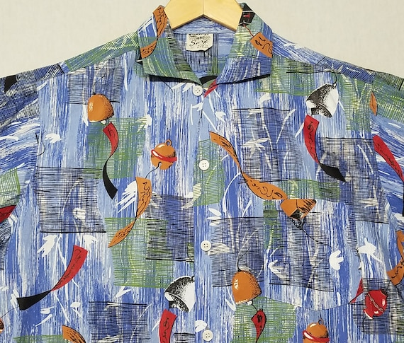 Vintage 1950s Hawaiian Shirt / M - L / Hawaiian Su