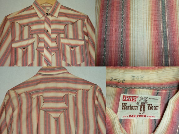 1950s Shirt / S / Levi's Western Wear / Lurex / We