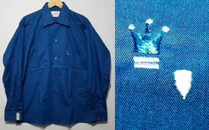 NOS Vintage 1960s Arrow Shirt  M  Crown Embroidery  Loop image 0