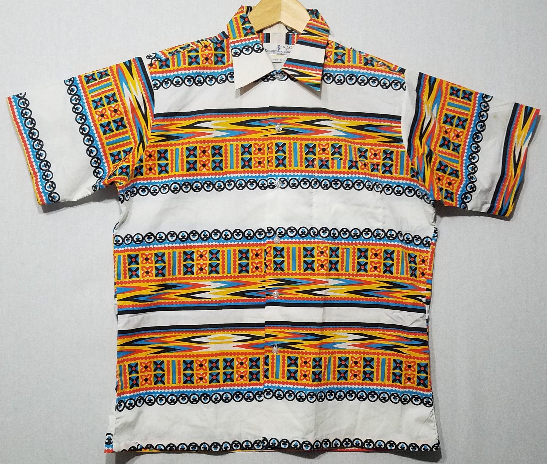 1960s – 70s Men's Ties | Skinny Ties, Slim Ties Nos1960S Shirt M Hawaiian Tiki Floral Gradation Mod Rockabilly Novelty Mens Fashion 60S $35.00 AT vintagedancer.com