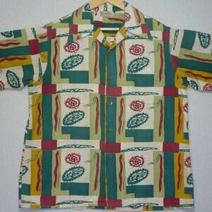 1940s Shirt  S  Towncraft  Wool  Flannel  Southwestern  Atomic  Work Shirt  Rockabilly Shirt  Vintage 1940s Shirt  Hunting Shirt