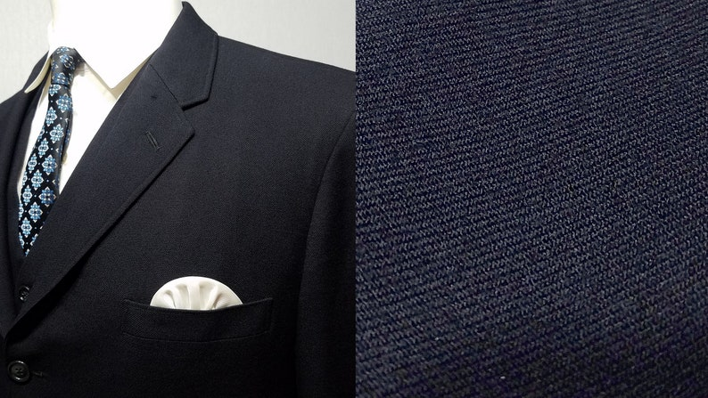 Vintage 1950s Three Piece Suit / 38  40 / 1960s Suit / 1950s image 0