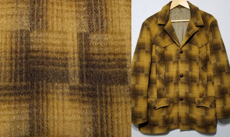 Vintage 1960s Western Norfolk Southwestern Wool Rockabilly image 0