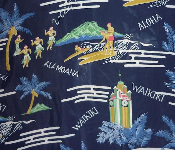 1950s Material Hawaiian Shirt / S / 1950s Hawaiian