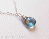 Aquamarine Necklace - Sil...