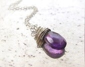 Amethyst Necklace Silver ...