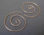 Gold Spiral Earrings 1.75...