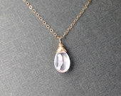 Rose Quartz Necklace - Pa...