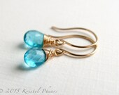 Solid 14k Apatite Earring...