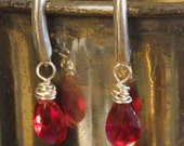 Ruby earrings - sterling ...